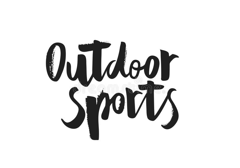 Hand writing `Outdoor sports` royalty free illustration