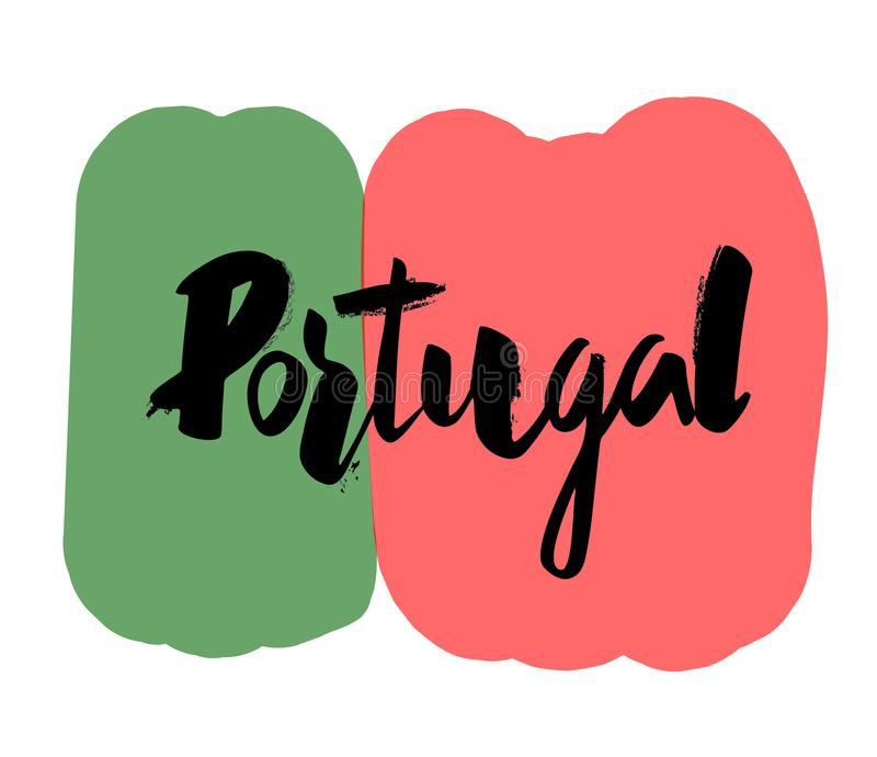 Hand writing `Portugal` royalty free illustration
