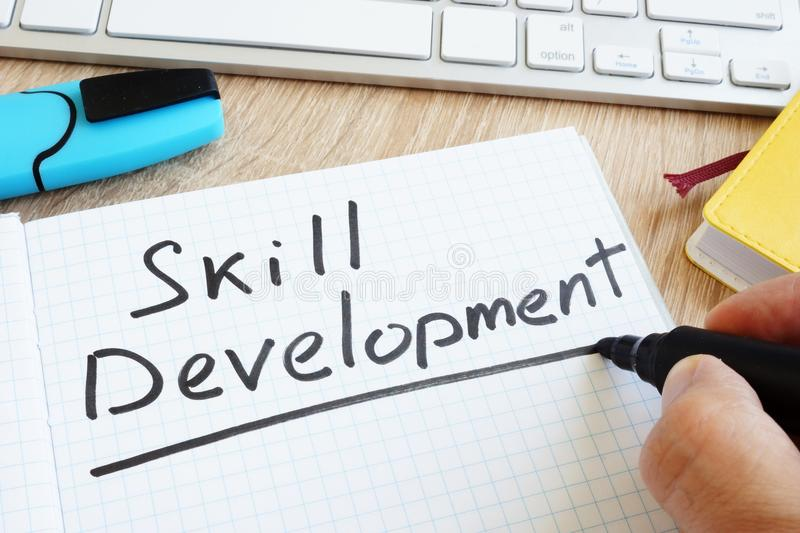 Hand is writing skill development. stock images