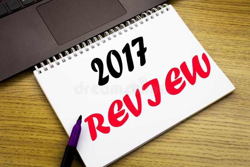 Hand Writing Text Caption Inspiration Showing 2017 Review. Business ...