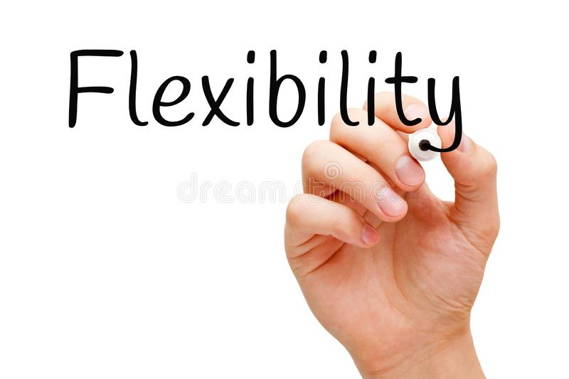 Word Flexibility Handwritten With Black Marker royalty free stock photos