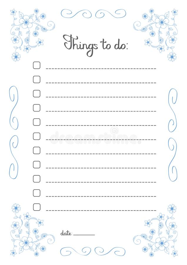 things to do lists