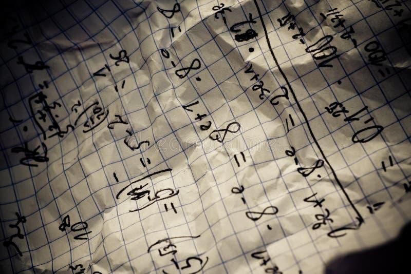 Download Hand Written Mathematical Formulas Royalty Free Stock Image - Image: 12955586