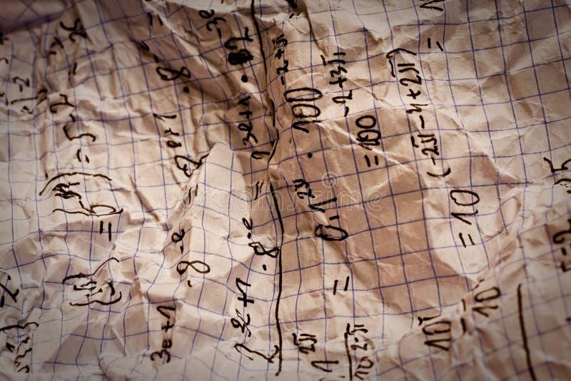 Hand Written Mathematical Formulas Royalty Free Stock Image