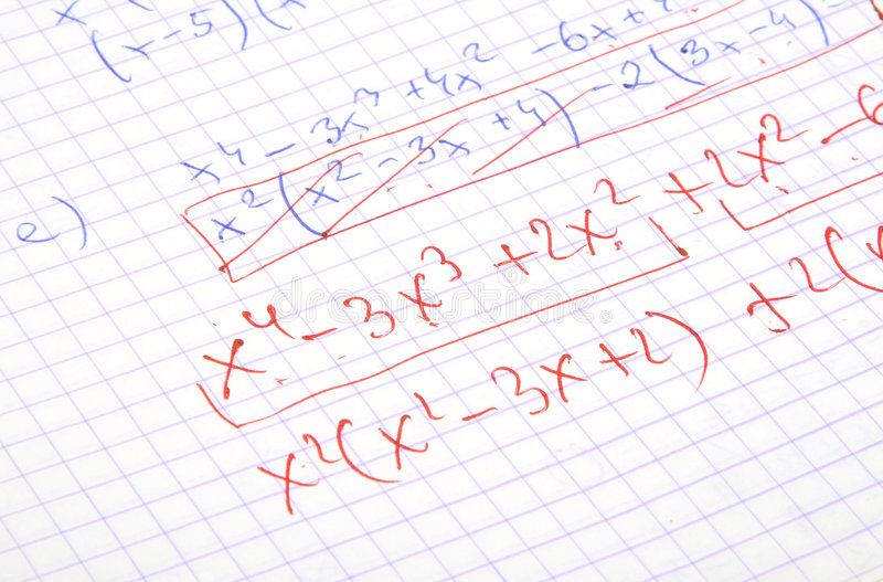 Hand Written Maths Calculations Royalty Free Stock Image