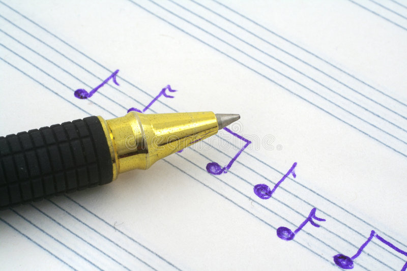 Download Hand written music note stock photo. Image of space, compose - 2834236