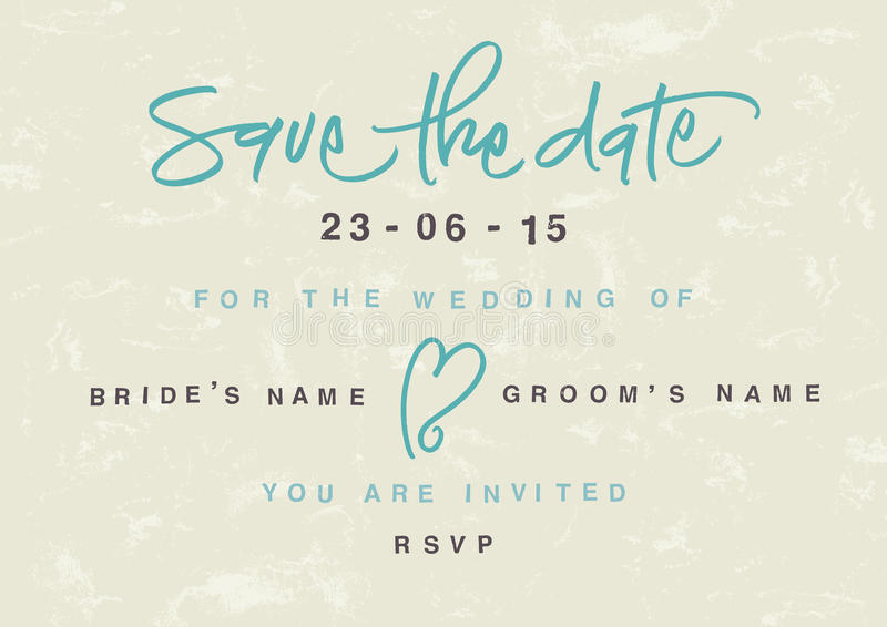 Hand-written Save the Date vector illustration