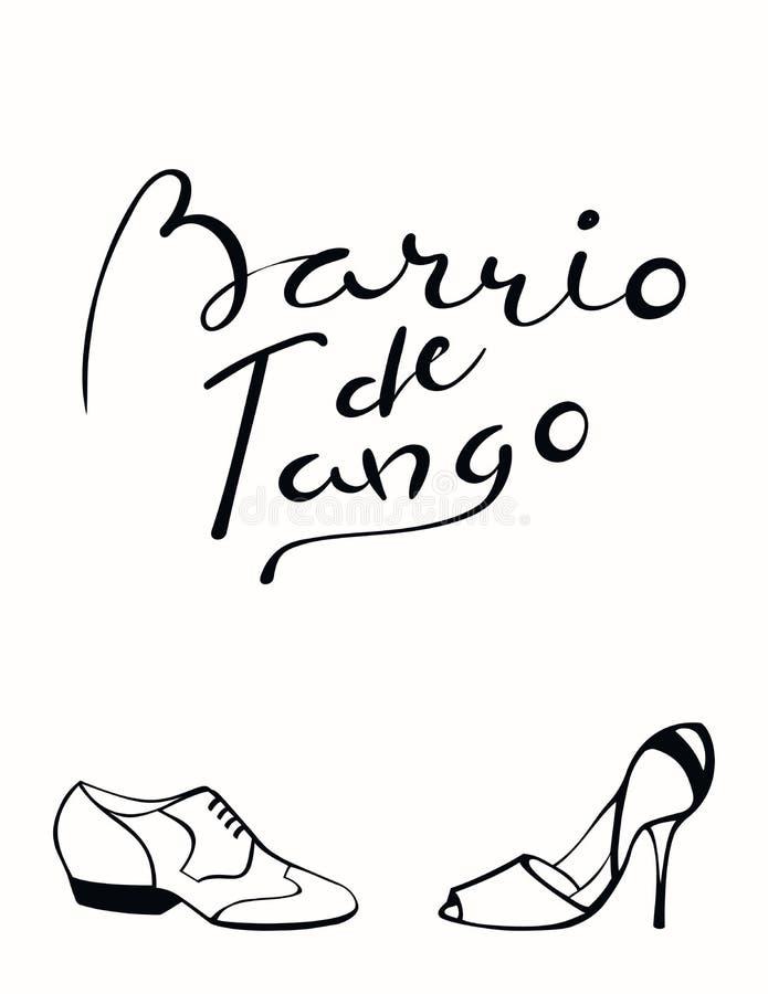 Hand written tango quote stock illustration