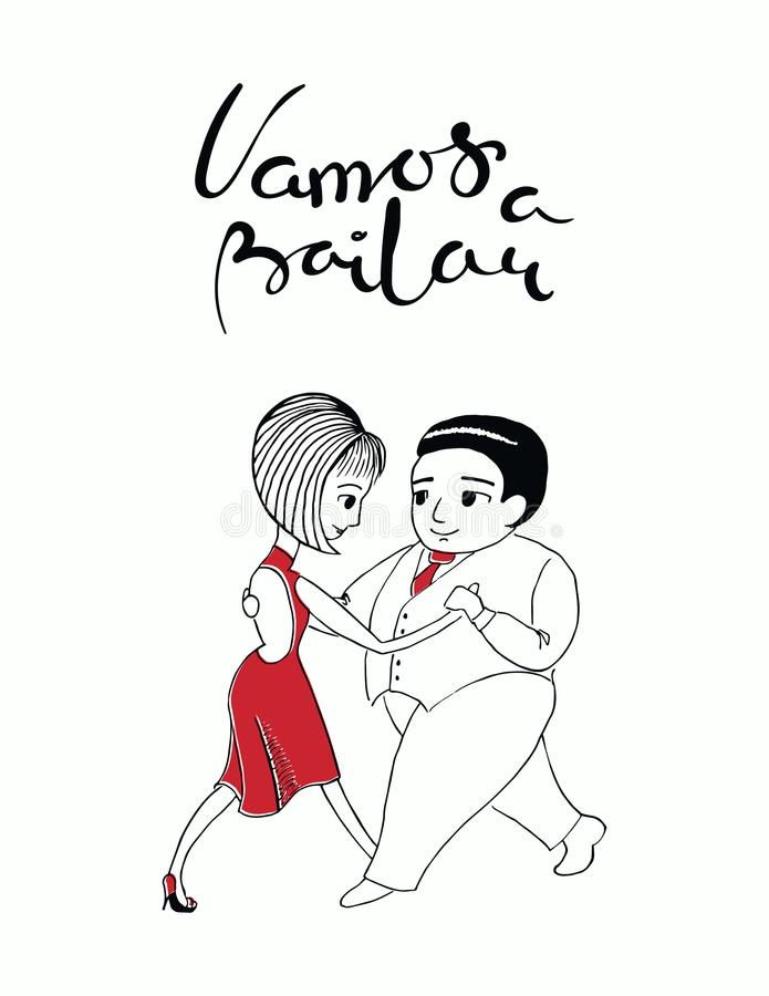 Hand written tango quote royalty free illustration