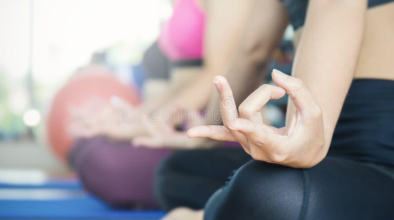 Hand yoga gesture on bright background. Yoga moves yoga, indian, meditation stock image