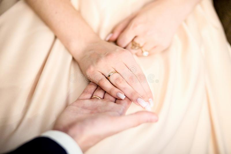 The fingers of happy young match royalty free stock images