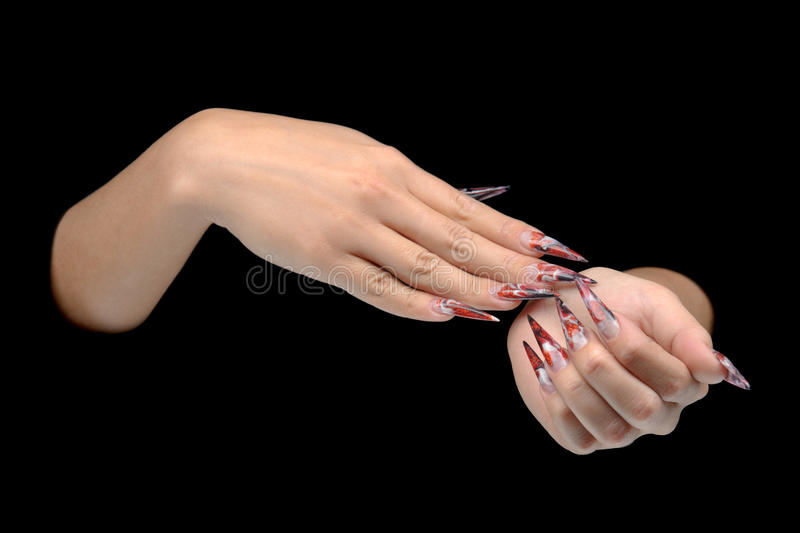 Download Hand Of Young Woman With Manicure On Nails Stock Image - Image: 26527339