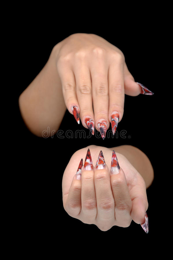 Download Hand Of Young Woman With Manicure On Nails Stock Photo - Image: 26527402