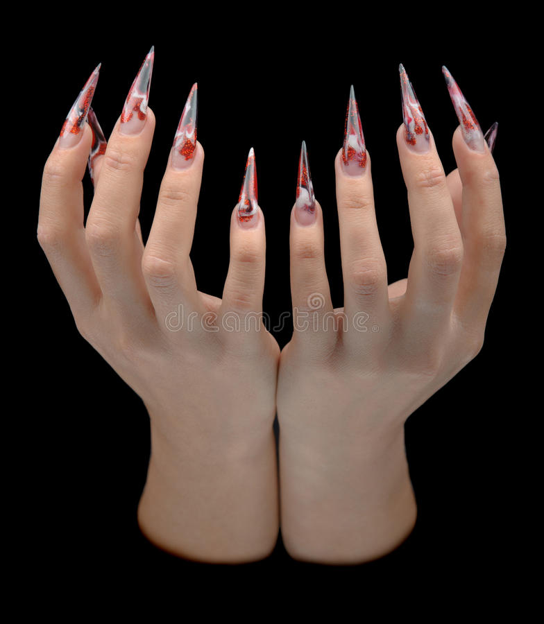 Download Hand Of Young Woman With Manicure On Nails Stock Image - Image: 26527497
