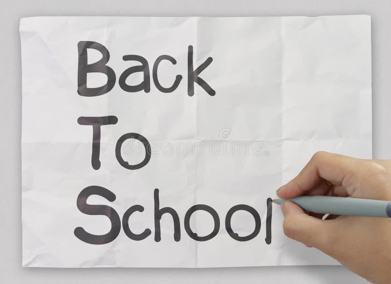 Hand zeichnet zurück zu Schule stockfoto
