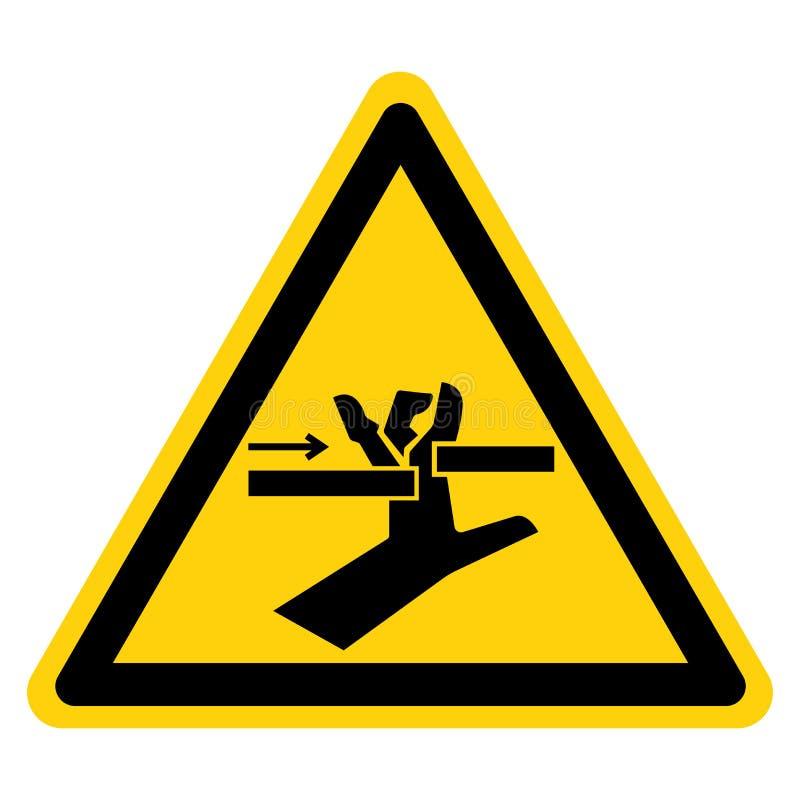 Hand zerquetschen bewegliche Teil-Symbol-Zeichen, Vektor-Illustration, Isolat auf wei?em Hintergrund-Aufkleber EPS10 stock abbildung