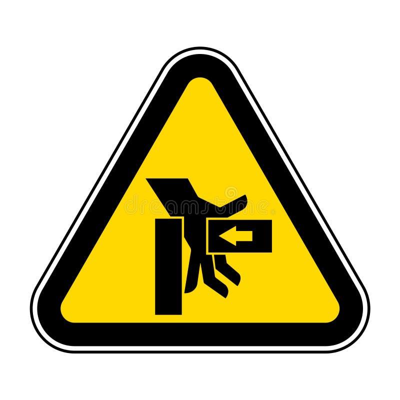 Hand zerquetschen Kraft vom rechten Symbol-Zeichen, Vektor-Illustration, Isolat auf wei?em Hintergrund-Aufkleber EPS10 lizenzfreie abbildung