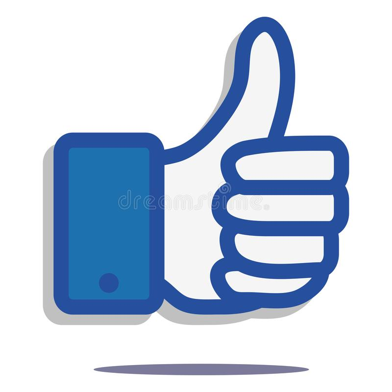 Hand zoals pictogram, Web als, praatje, het pictogram van het goedkeuringsteken, eenvoudig als concept op witte achtergrond, goed royalty-vrije illustratie