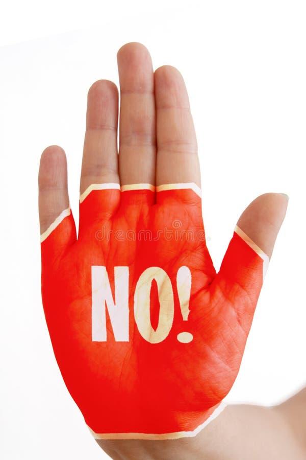 Hand zonder teken! stock afbeeldingen