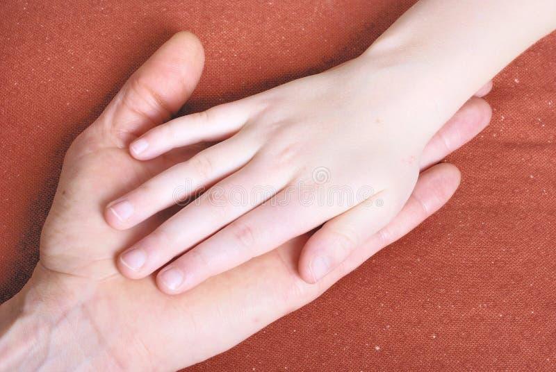 Hand zusammen lizenzfreies stockbild