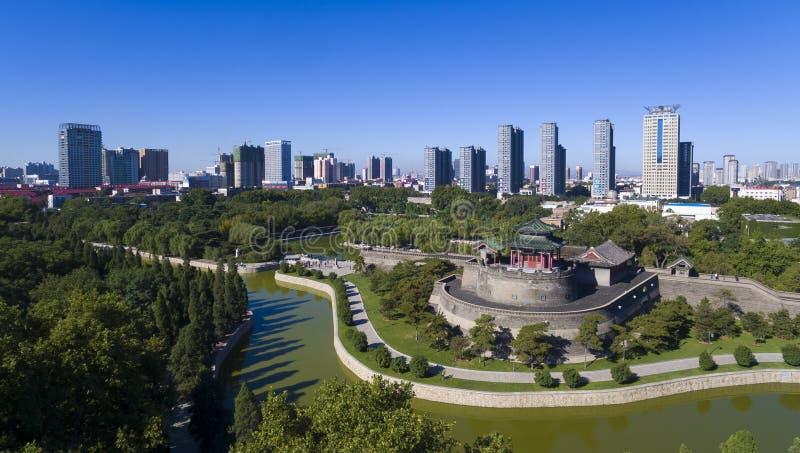 Handan hebei China van het Congtaipark stock afbeelding