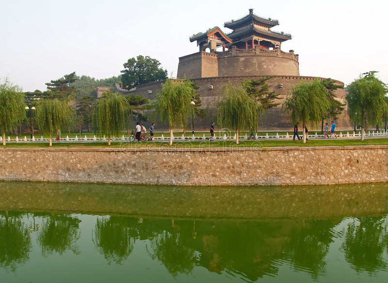 handan historisk park för porslinstadscongtai royaltyfria foton