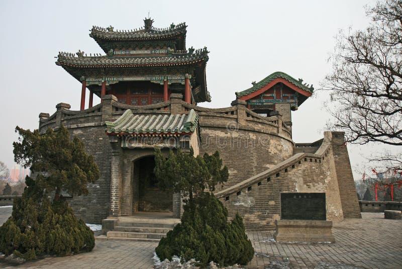 handan historisk park tai för cong royaltyfri foto