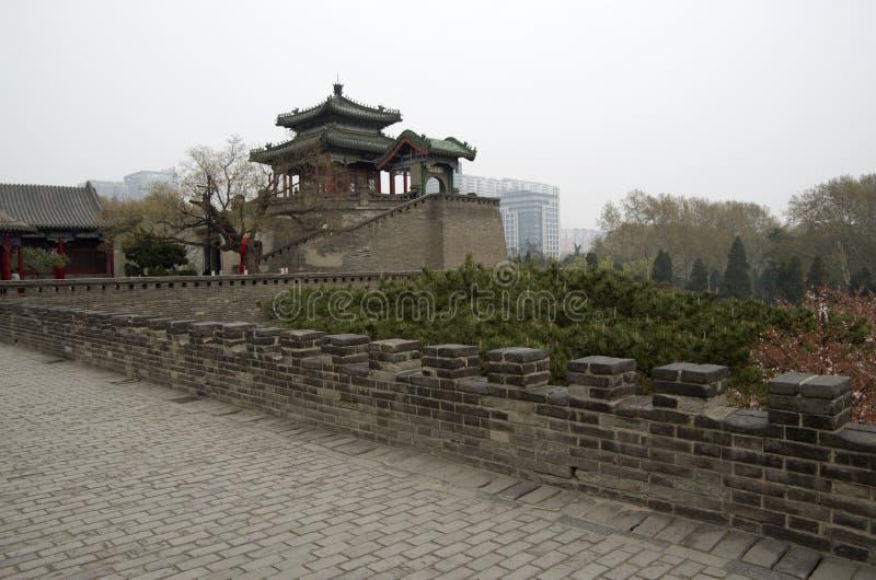 Handan city park hubei china. Handan is an old city with very bad pollution in Hubei China, near Beijing stock photography