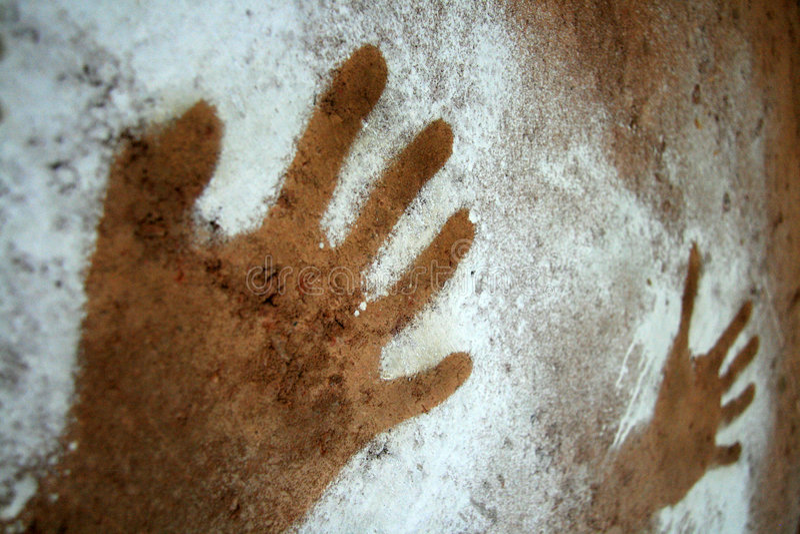 Handanstrich - eingeborene Felsen-Kunst, Kakadu lizenzfreies stockfoto