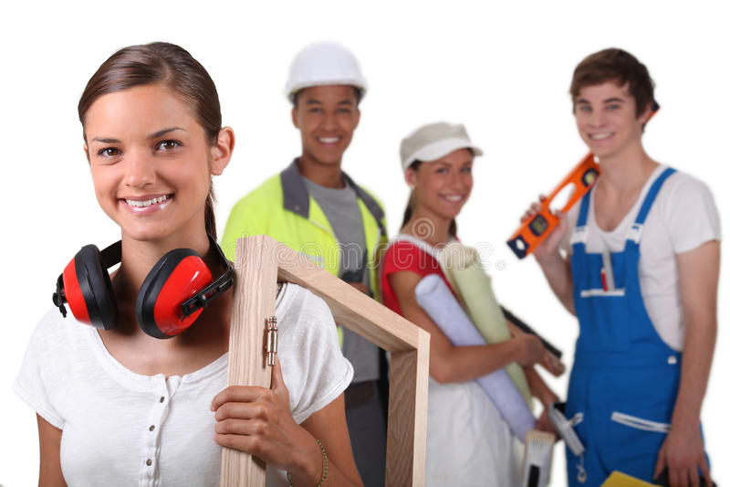 Handarbeiders stock foto
