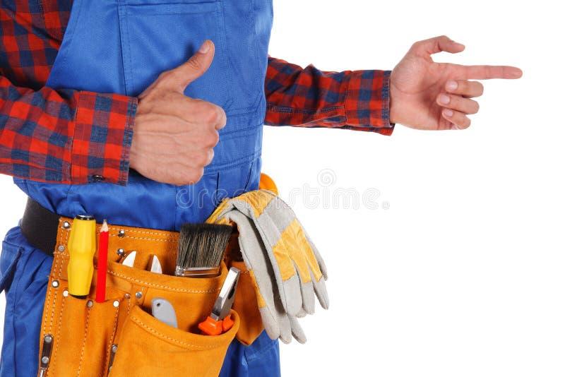 Handarbeidersmens royalty-vrije stock fotografie
