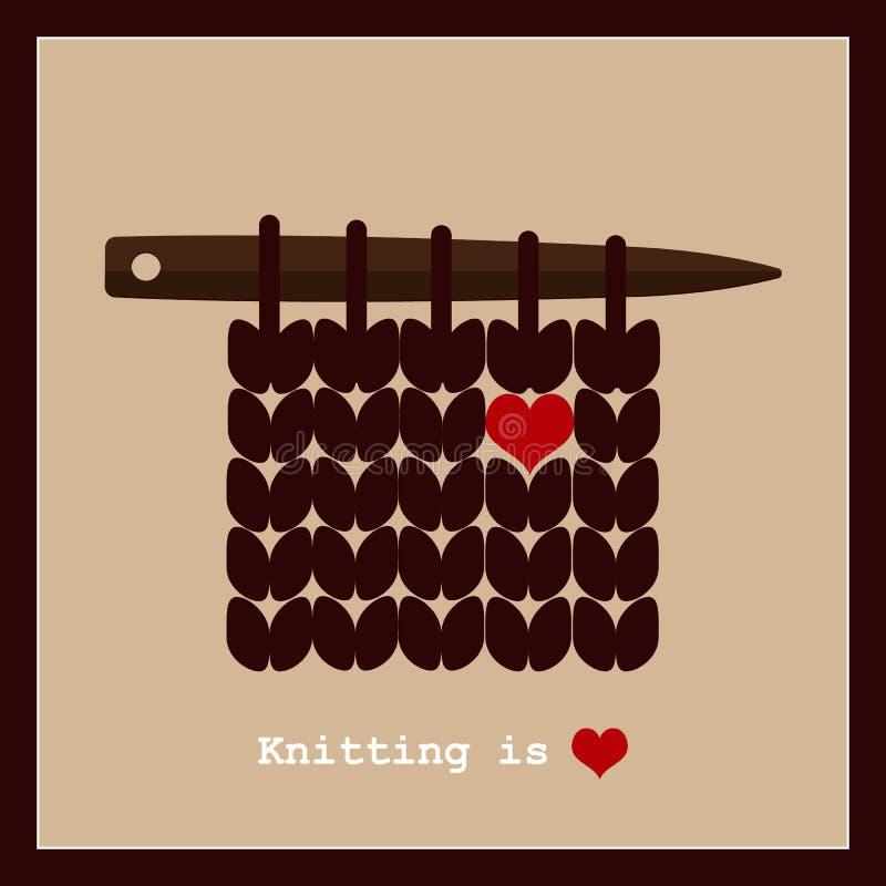 Handarbete är förälskelse vektor illustrationer