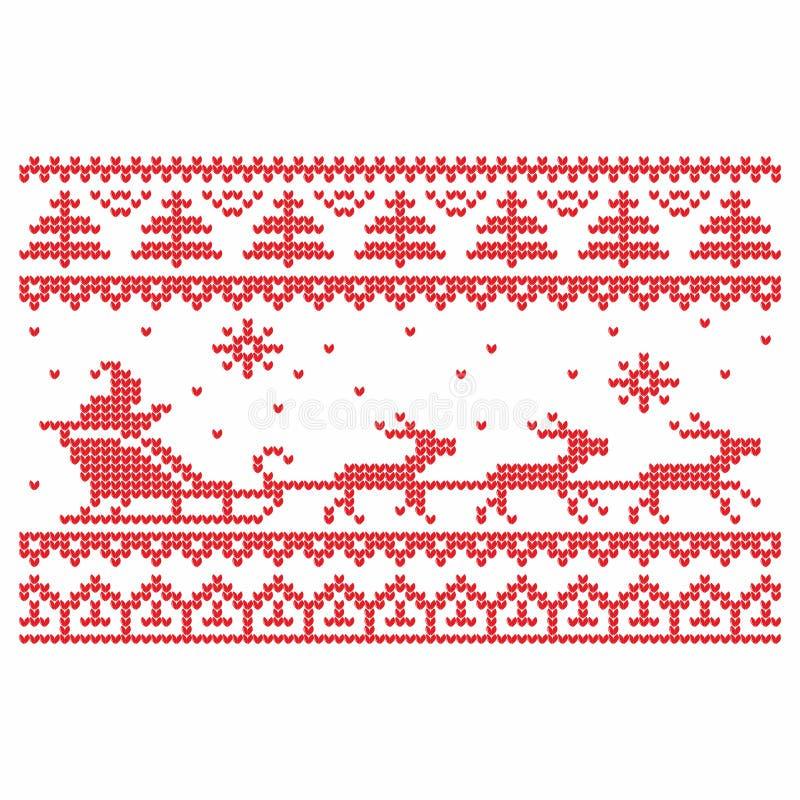 handarbete vektor för mapp för eps för 8 bakgrundsjul bland annat Deers och snö stock illustrationer