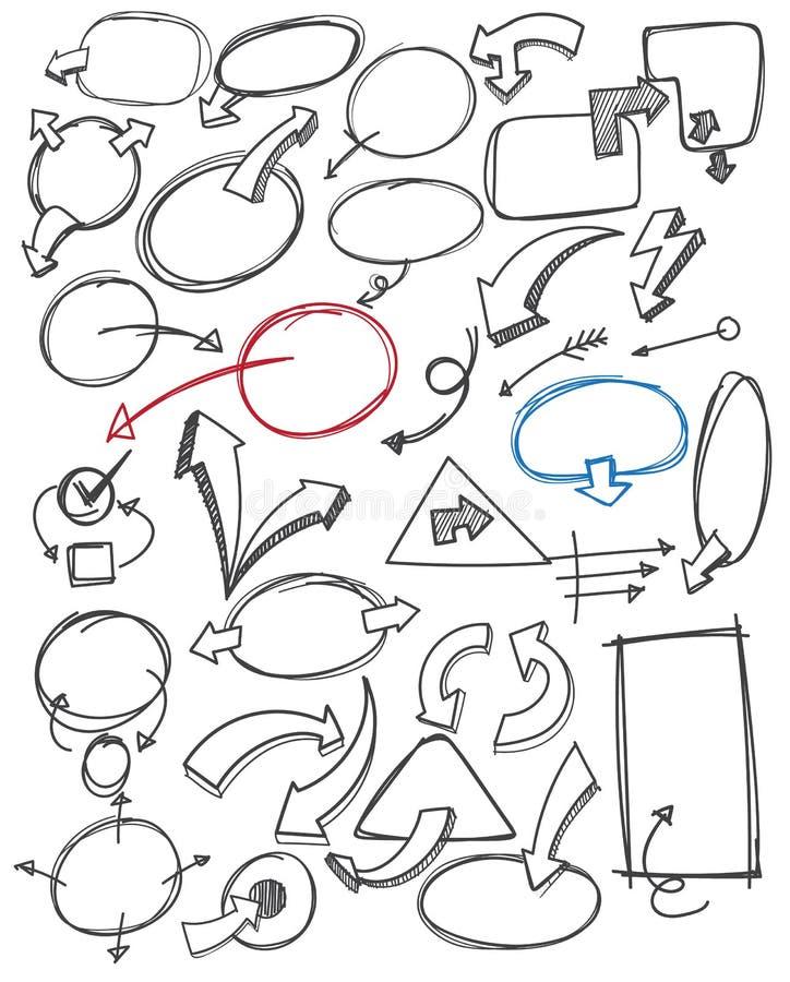 Handattraktionbubbla och pil vektor illustrationer