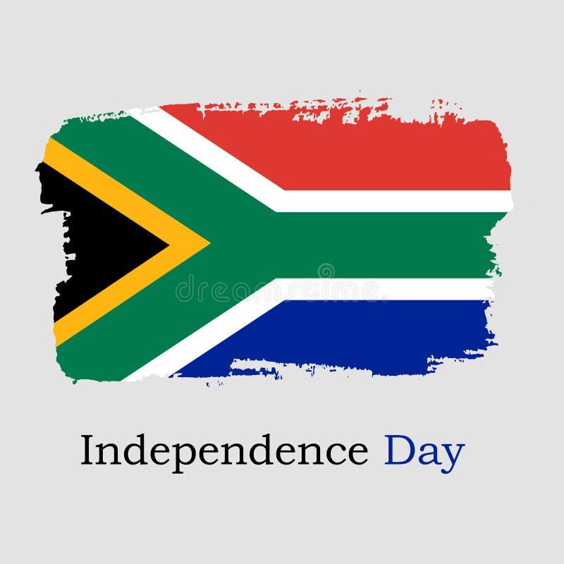 HandattraktionSydafrika flagga stock illustrationer