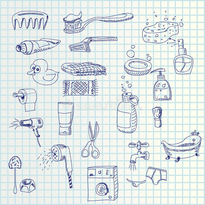 Handattraktionsymboler royaltyfri illustrationer