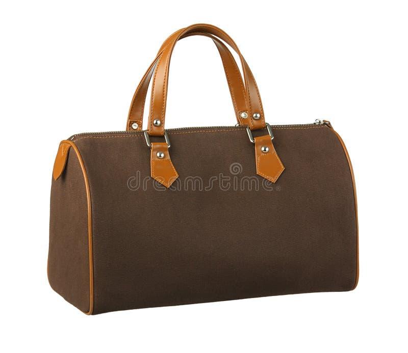 Handbag. Big brown handbag for your comfortable travel royalty free stock images