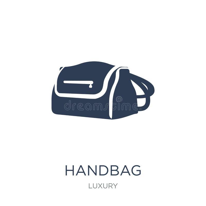 Handbag icon. Trendy flat vector Handbag icon on white background from Luxury collection royalty free illustration