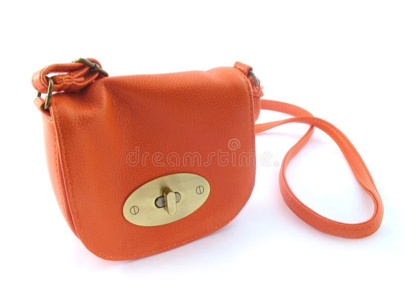 handbag orange small στοκ εικόνες