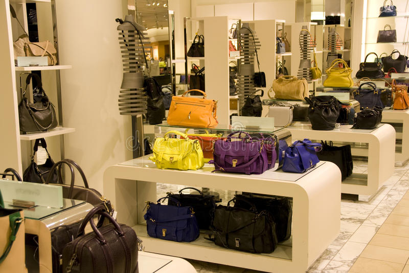 Handbag purse department store stock images