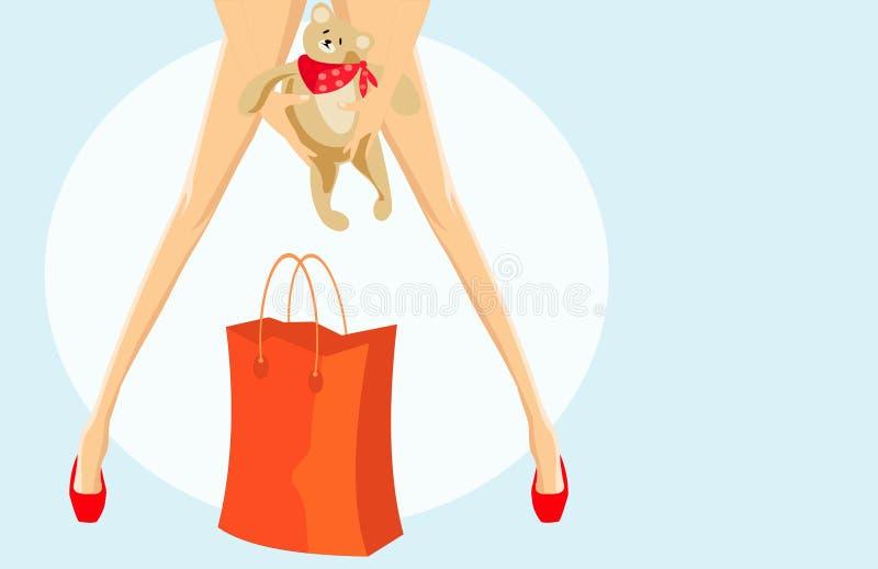 Download Handbag and toy stock vector. Image of girl, fashion, market - 5026128