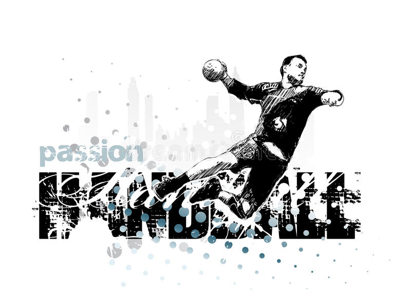 Handbal 1 stock illustratie