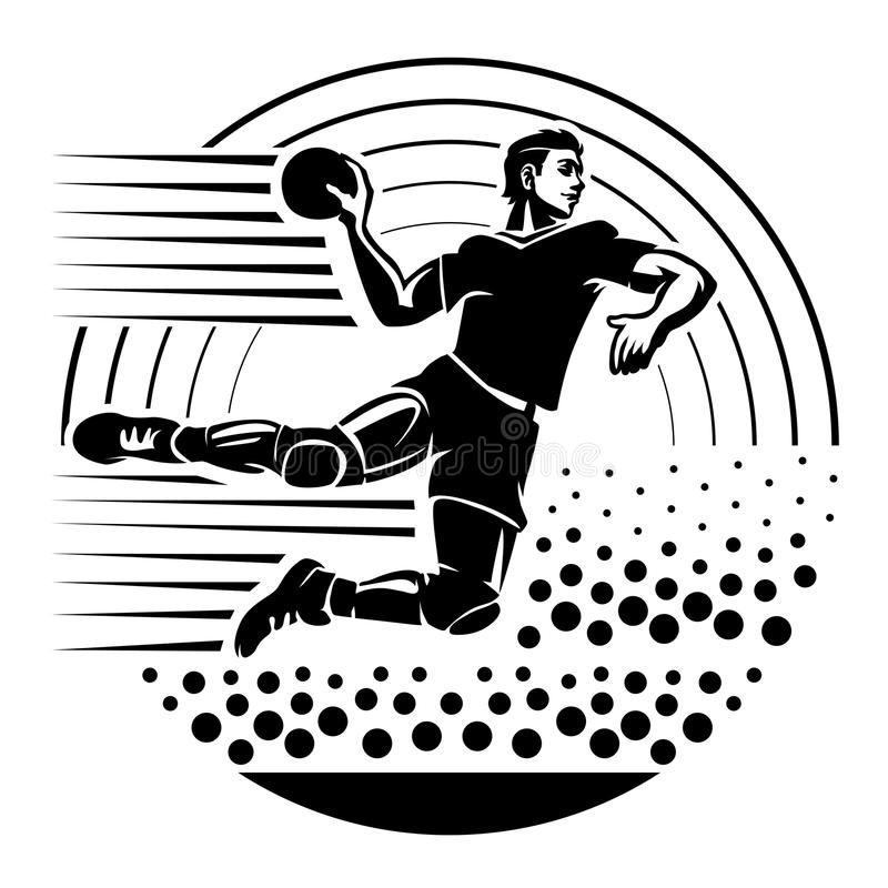 handbal stock illustratie