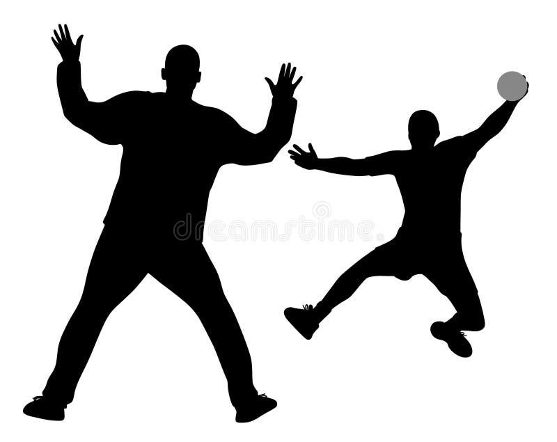 Handball bramkarz i gracz royalty ilustracja