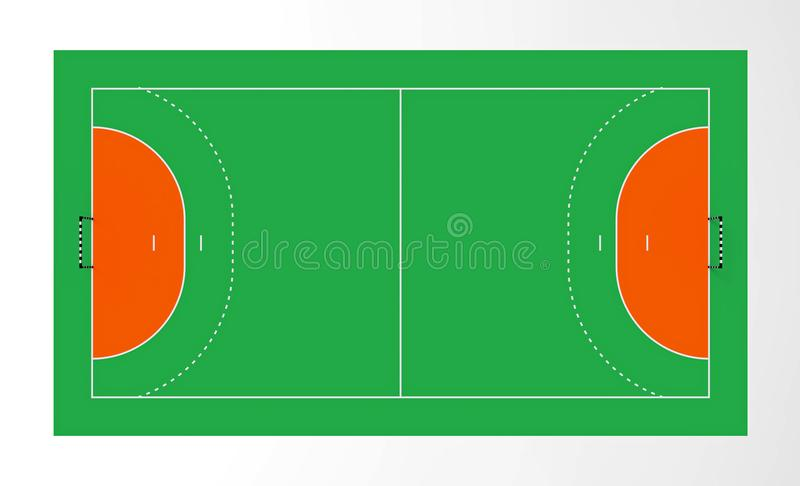 Handball court stock illustration