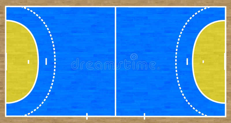 Handball Court. An overhead view of a handball court complete with markings vector illustration