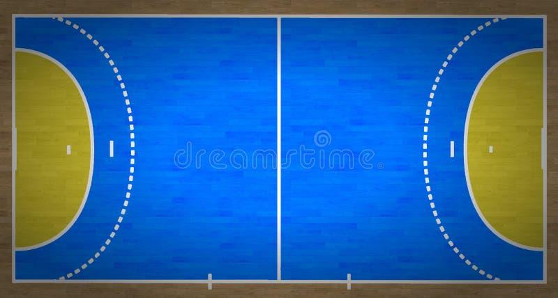 Handball-Gericht lizenzfreie abbildung