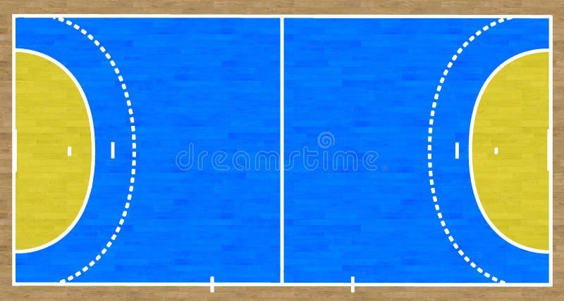 Handball-Gericht vektor abbildung