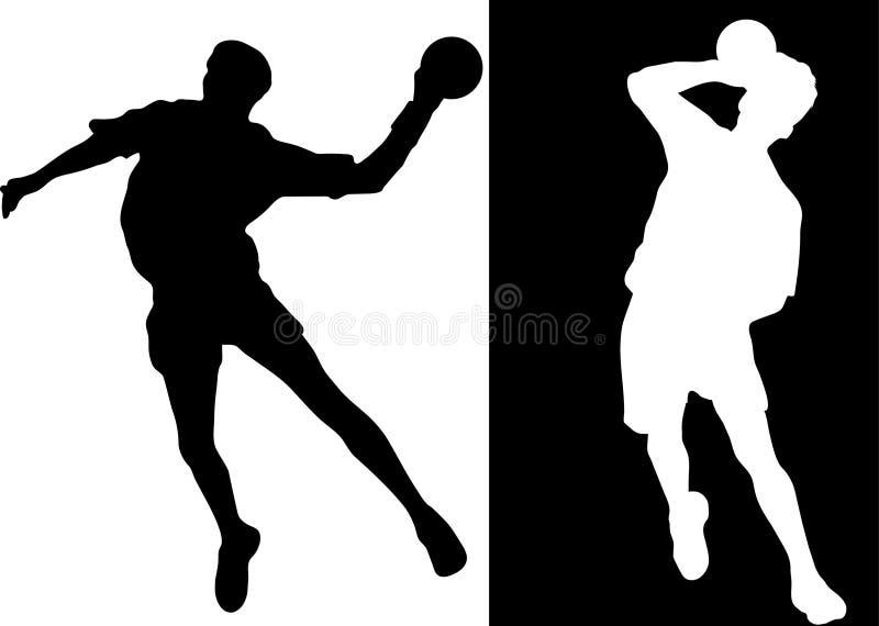 handball gracz ilustracja wektor