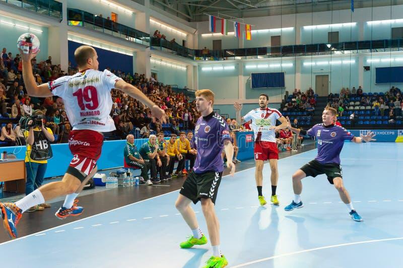 Handball gracze zdjęcia royalty free